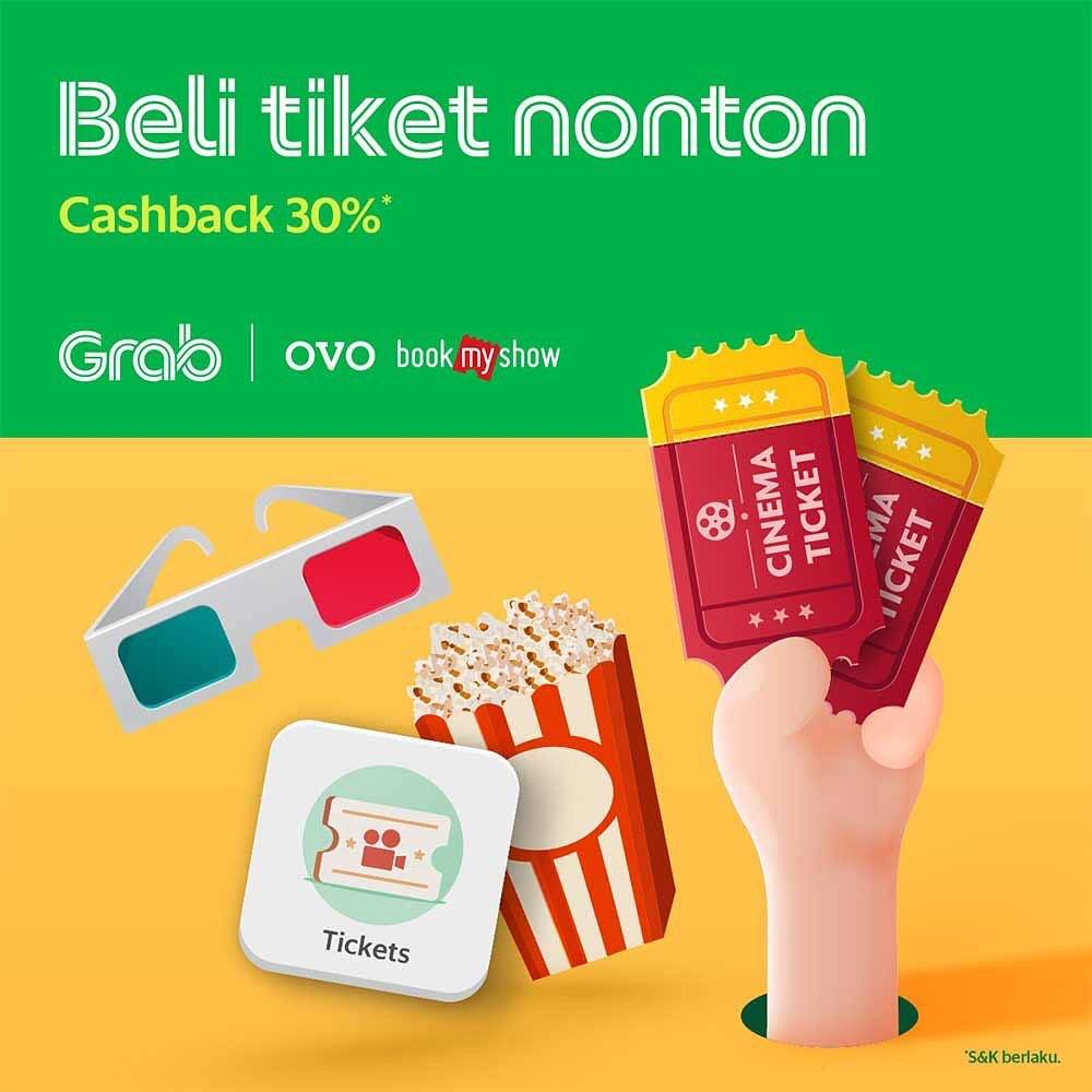 BookMyShow Promo Cashback 30% OVO Points melalui Grab