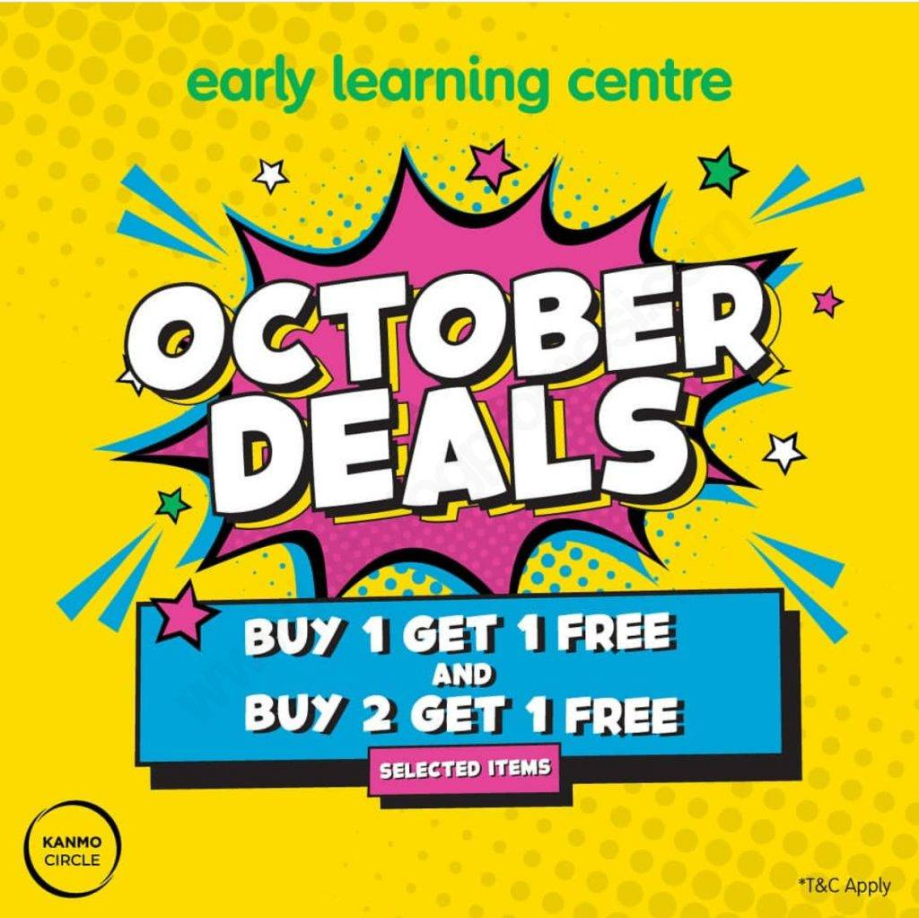 Diskon Early Learning Center October Deals Buy 1 Get 1 Free atau Buy 2 Get 1 Free selected items