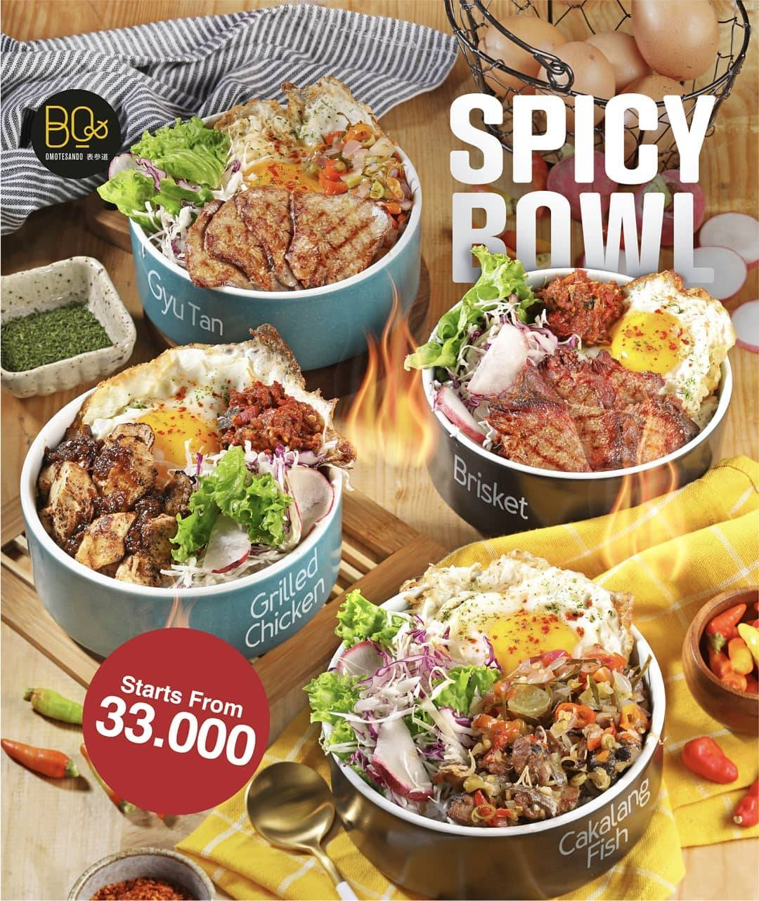 Beatrice Quarters Promo Spicy Bowl starts from Rp. 33.000