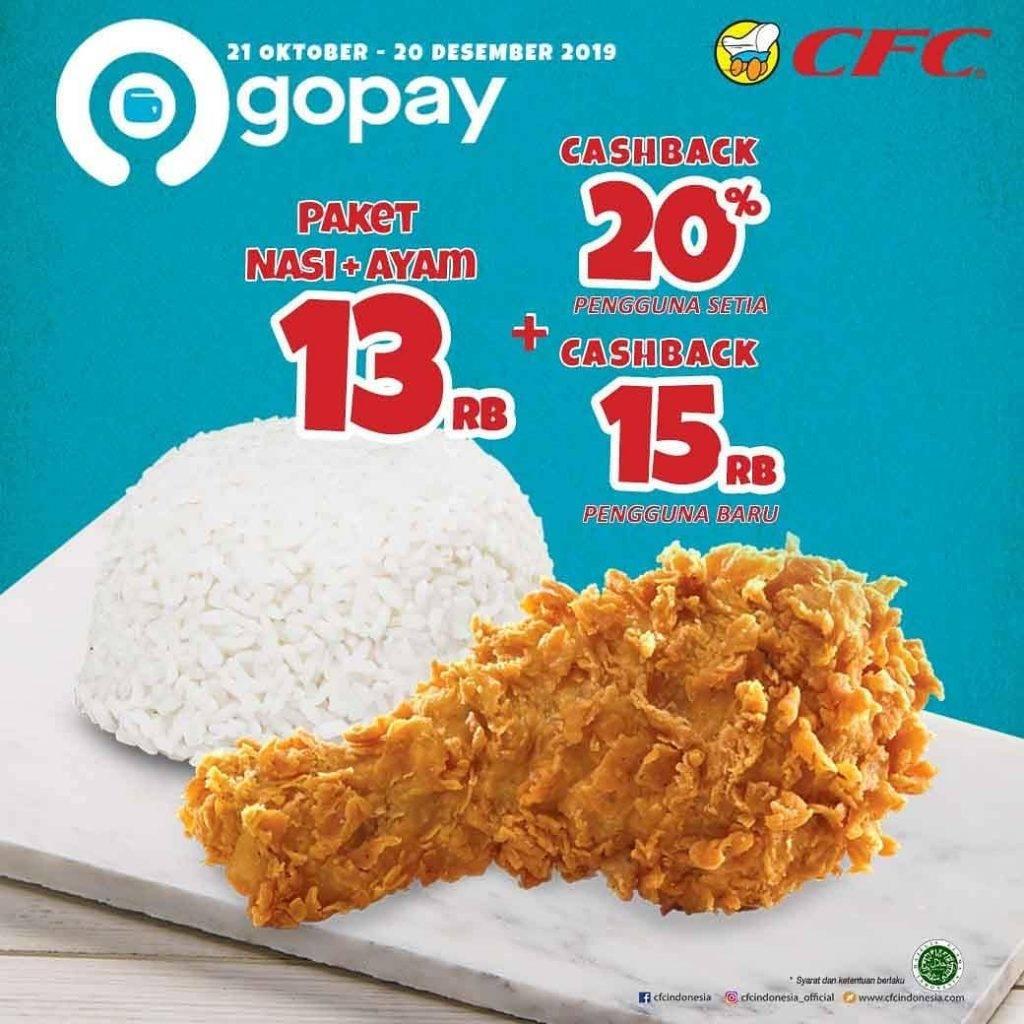 CFC Promo Paket Spesial Nasi + Ayam cuma Rp. 13.000 dengan GOPAY