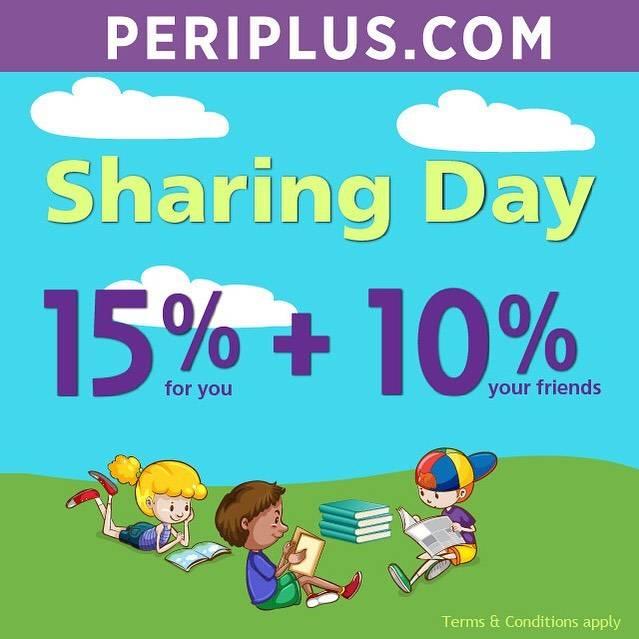 Diskon Periplus Promo Sharing Day Get Cashback 15% + 10% All Books