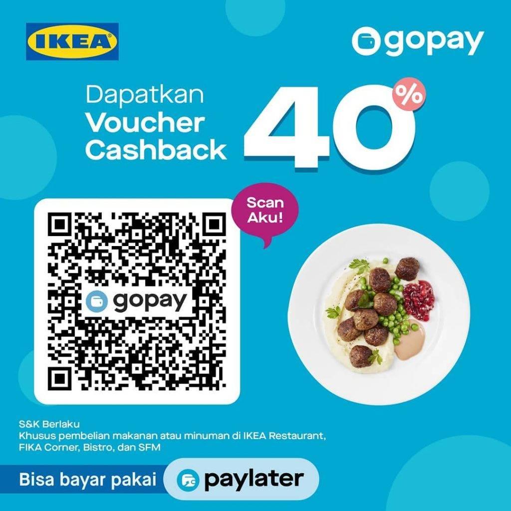IKEA Promo Voucher Cashback 40% dari Gopay