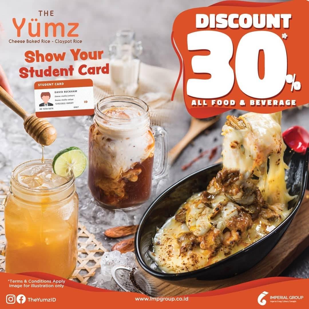 The Yumz Promo Diskon 30% dengan menunjukkan student card