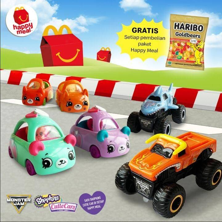 McDonalds Promo Happy Meals Mainan Happy Meal Monster Jam & Cutie Cars