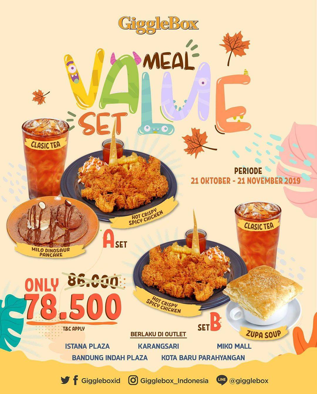 Giggle Box Promo Value Set Meal Only Rp 78.500