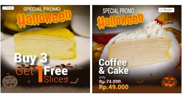 First Love Patisserie Special Halloween Promo