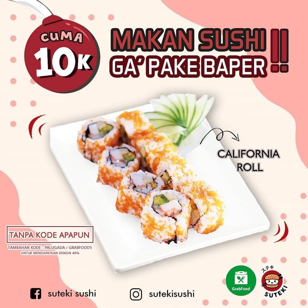 Suteki Sushi Promo Harga Spesial California Roll Only Rp. 10.000
