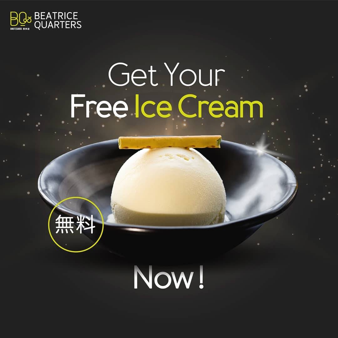 Beatrice Quarters Promo Get Free Ice Cream