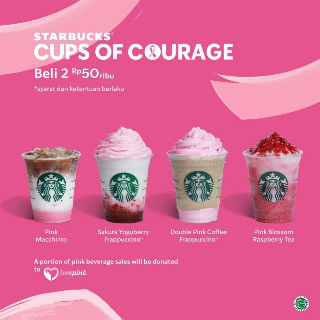 Starbubcks Promo Harga Spesial untuk 2 Minuman Pink Drinks hanya Rp. 20.000