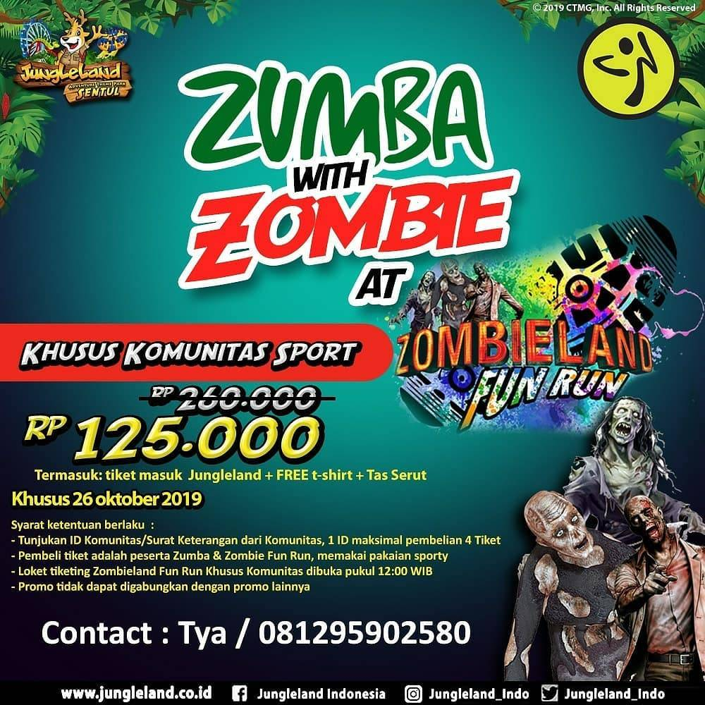 Jungleland Zumba with Zombie Harga Spesial untuk Anggota Komunitas Sport