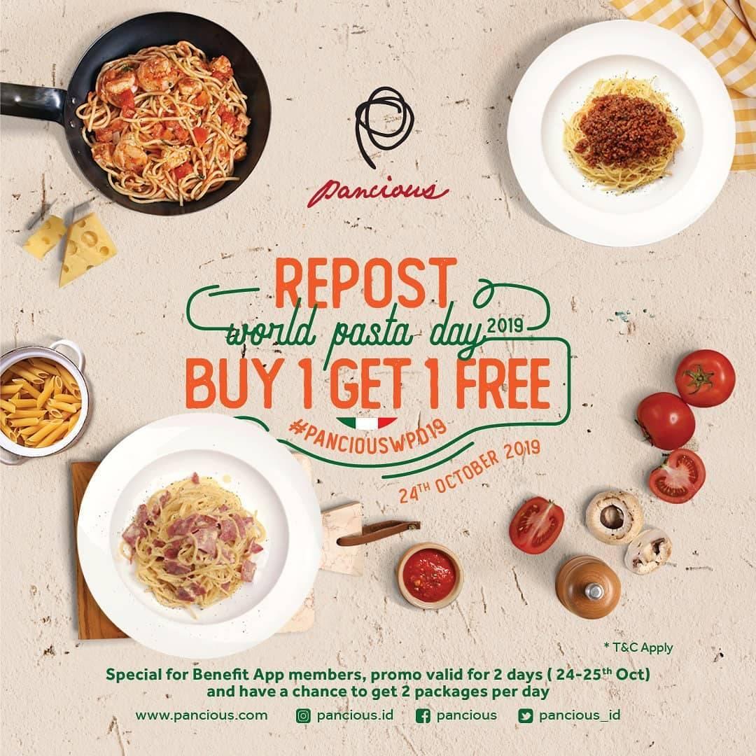 Pancious Promo Hari Pasta Sedunia Buy 1 Get 1 FREE