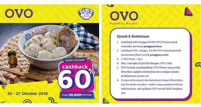 Baso Afung OVO Hore Gajian Cashback 60%