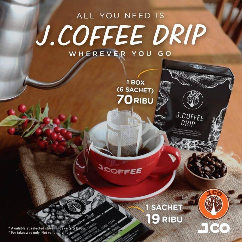 JCO New J.Coffee Drip Harga Hanya Rp. 70.000 per box