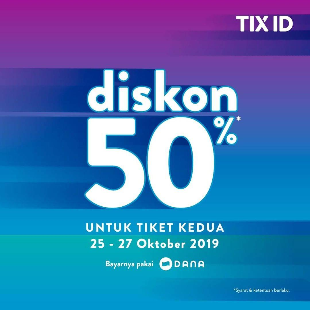 Update! TIX ID Promo Diskon 50% Untuk Tiket Kedua Semua Film