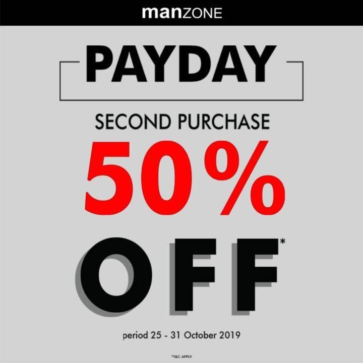 Manzone Promo Payday Second Purchase atau Pembelian Kedua Discount 50% Off