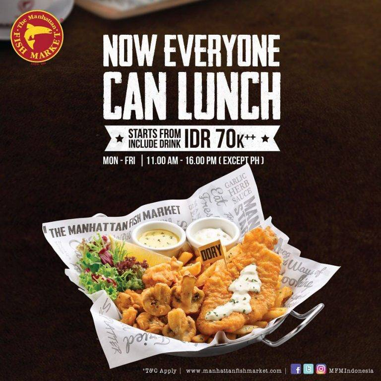 The Manhattan Fish Market Promo All Main Course Serve With 1 Drinks Starts From 70K++