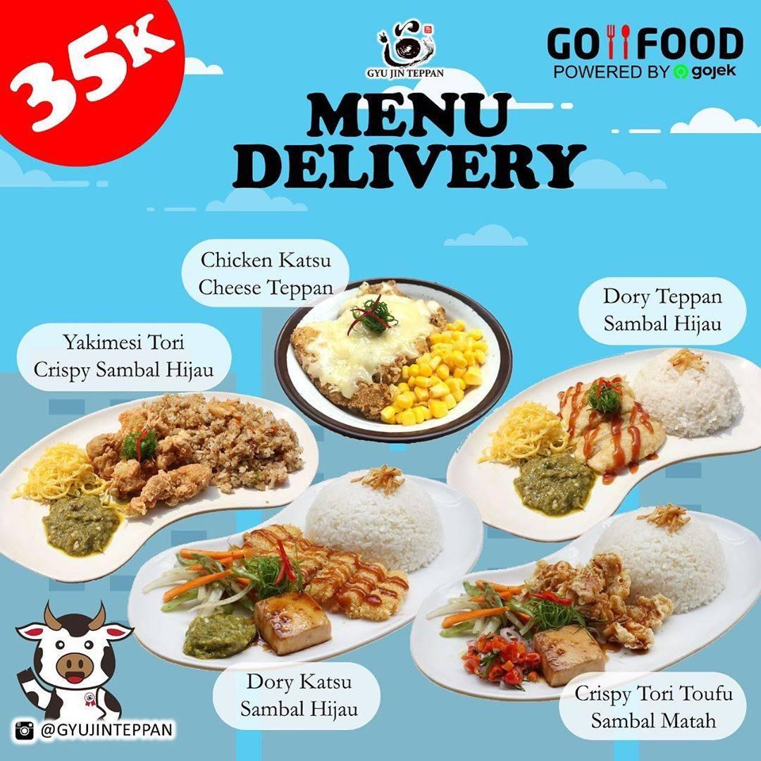 Gyujin Teppan Promo Menu Delivery via GoFood Harga Spesial Hanya Rp. 35.000