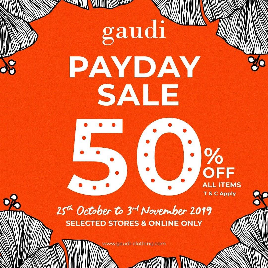 Diskon Gaudi Payday Sale Discount 50% Off All Items