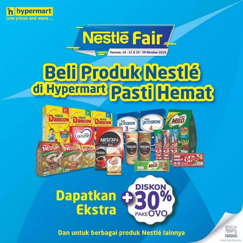 Hypermart Nestle Fair Ekstra Diskon 30% dengan OVO