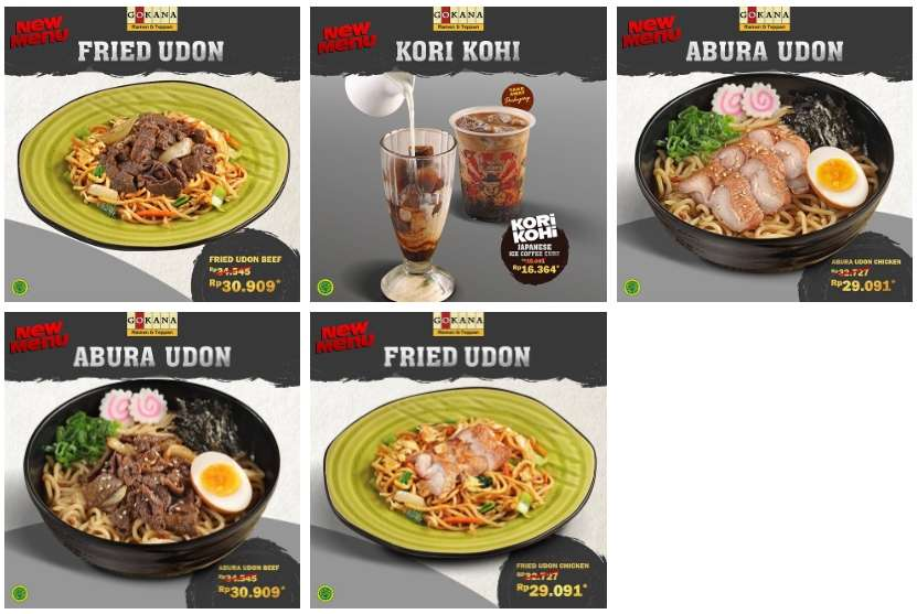 Gokana Ramen & Teppan Promo New Menu start from Rp. 16.364