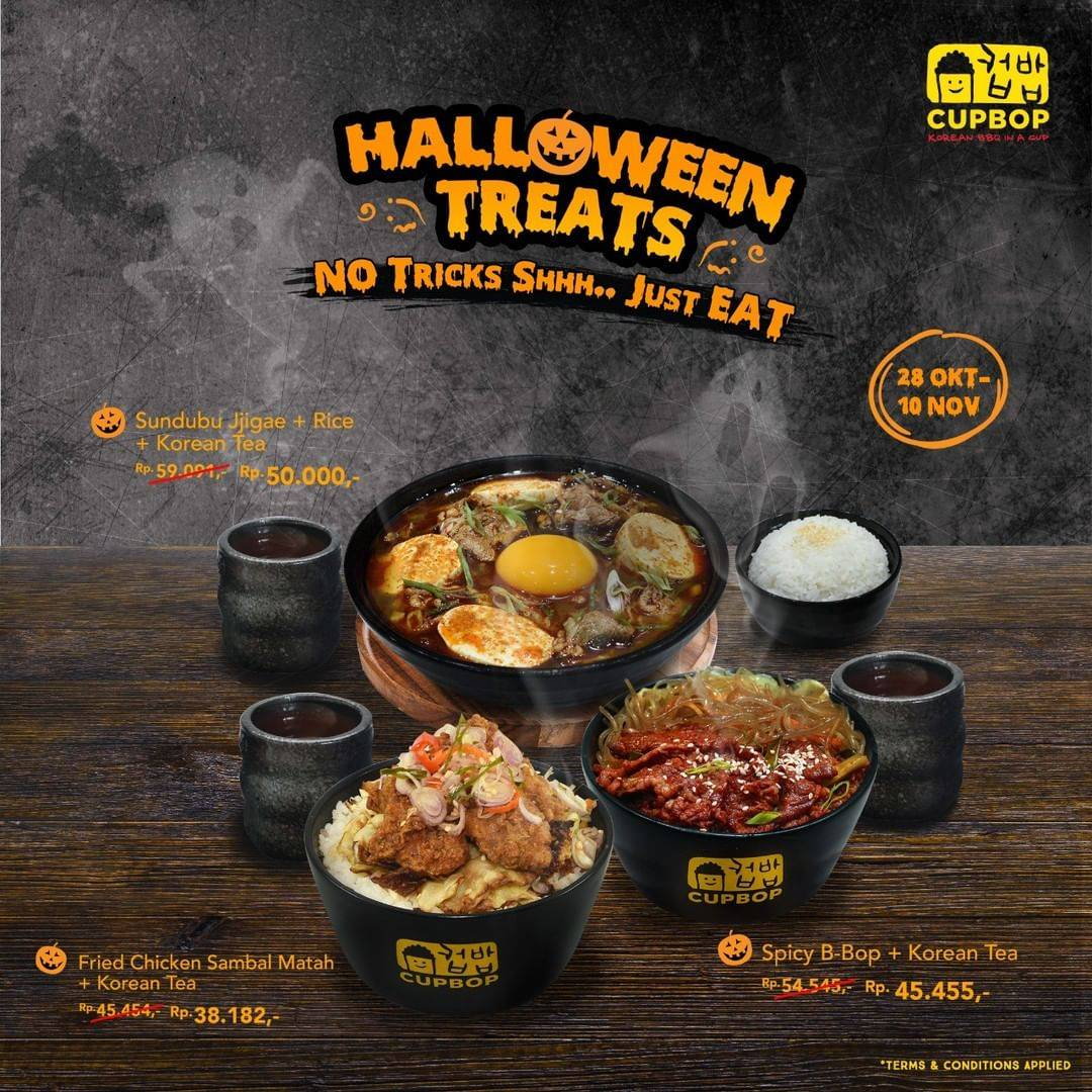 Cup Bob Halloween Treats Promo Starts From Rp 38.182