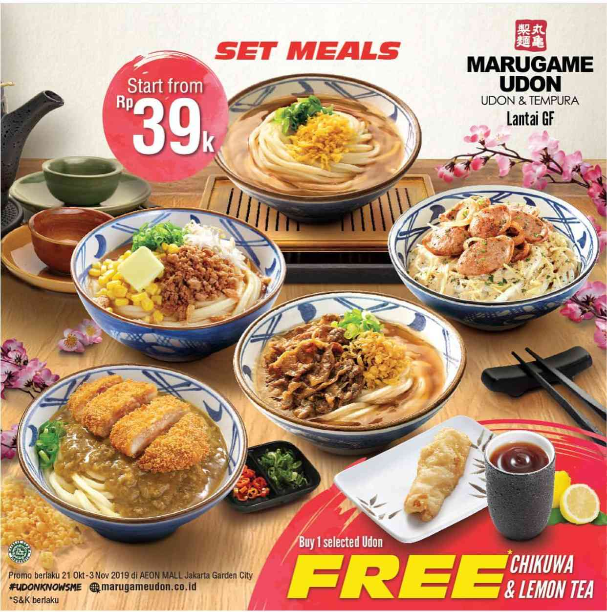 Diskon Marugame Udon Promo Set Meal mulai Rp. 39.000 saja