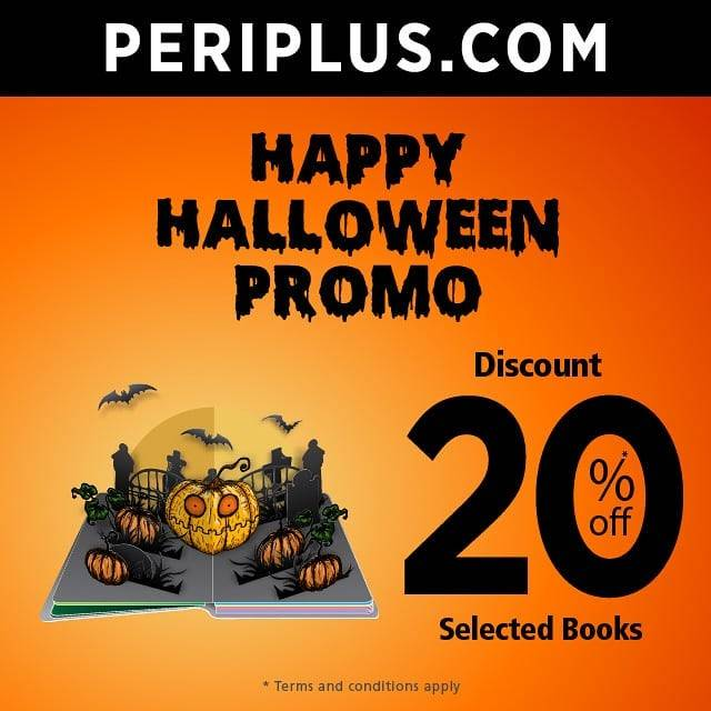 Periplus Happy Halloween Promo Discount 20% Off Selected Books