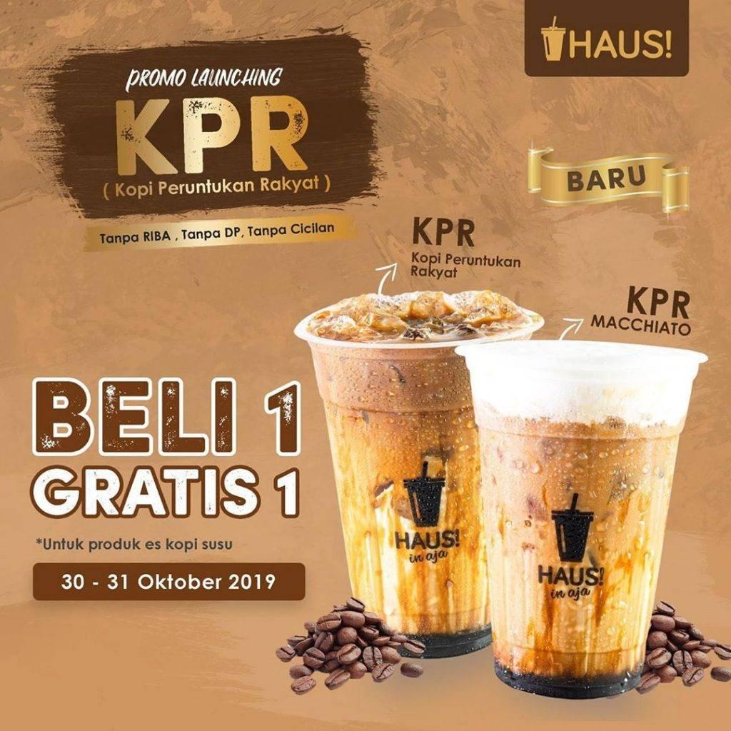 Haus Promo Beli 1 Gratis 1 untuk Menu Baru Kopi Peruntukan Rakyat KPR