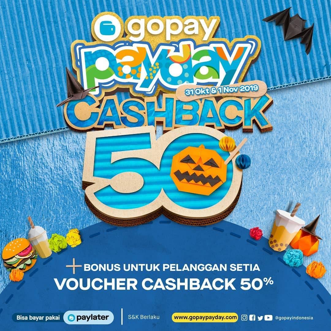 Diskon GOPAY PAYDAY Promo CASHBACK hingga 50%