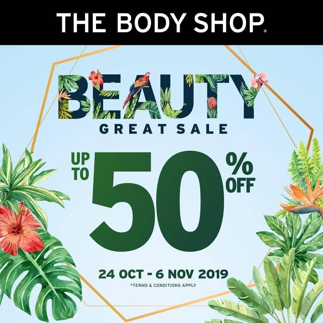 The Body Shop Promo The Sale Up To 50% Off