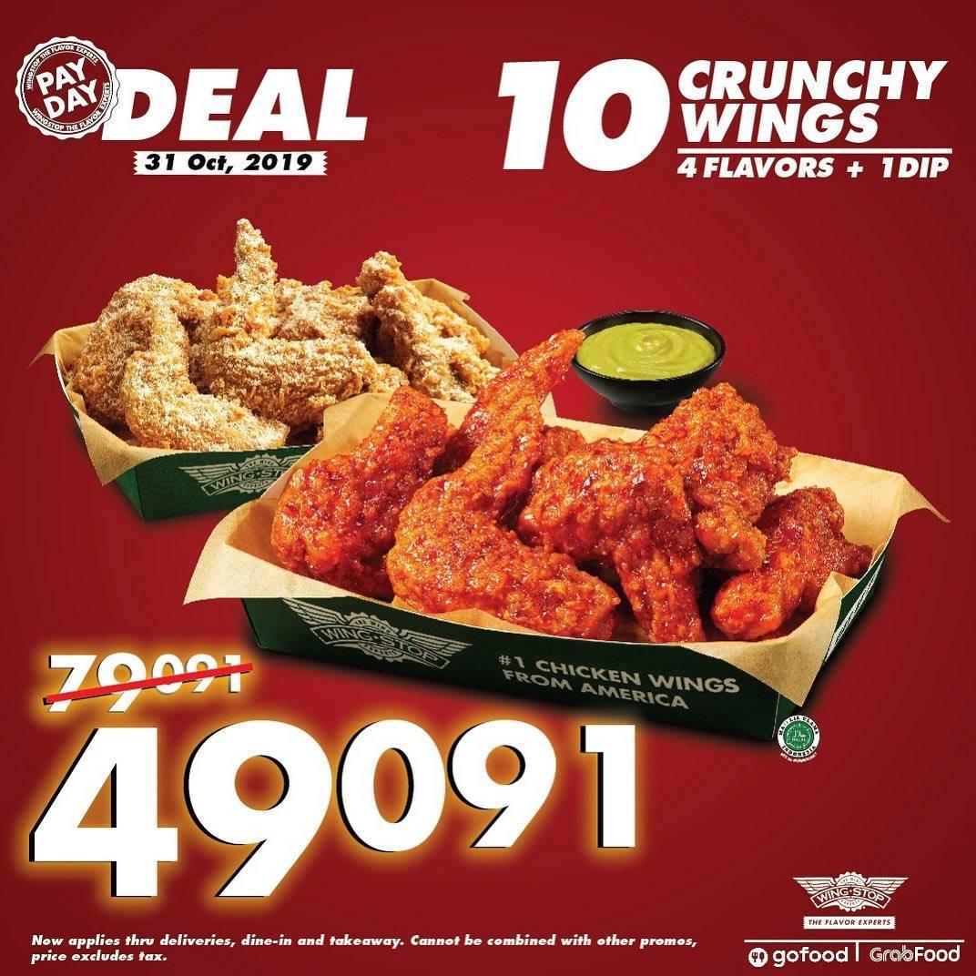 Wingstop PayDay Deal Paket 10 Crunchy Wings Hanya Rp. 49.091