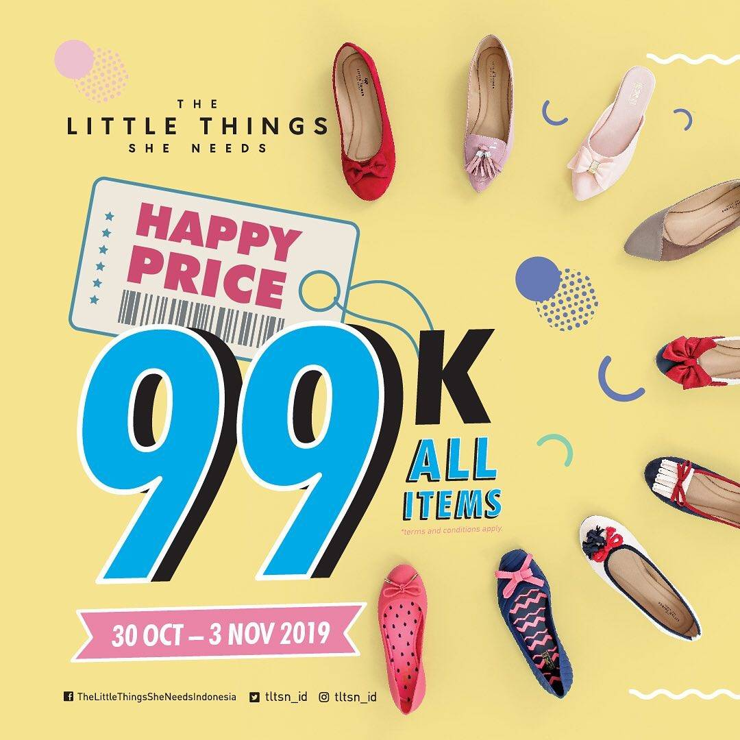 Diskon The Little Things She Needs Promo Happy Price Rp. 99.000 All Items