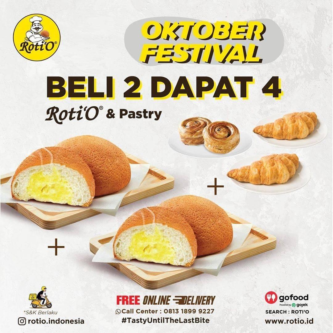 Diskon Roti'O Promo Oktober Festival