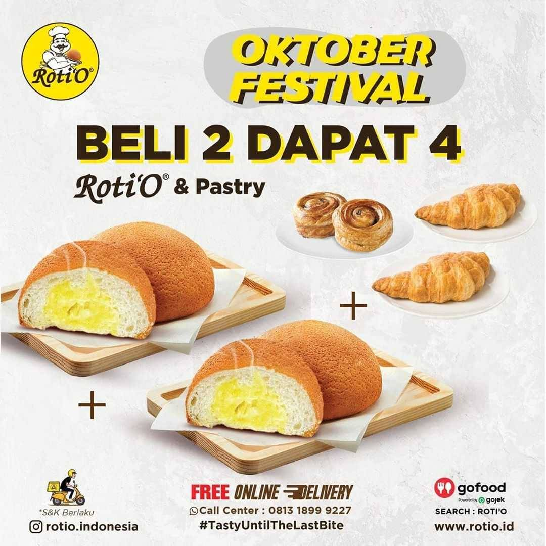 Promo diskon Roti'O Promo Oktober Festival