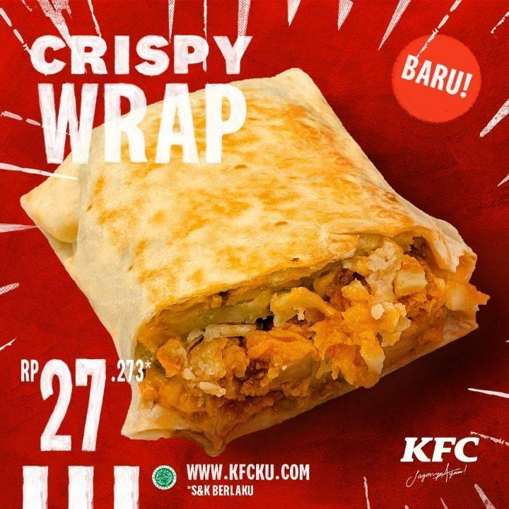 Diskon KFC Promo Crispy Wrap Hanya Rp. 27.273