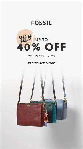 Diskon Fossil Promo Discount Up to 40%