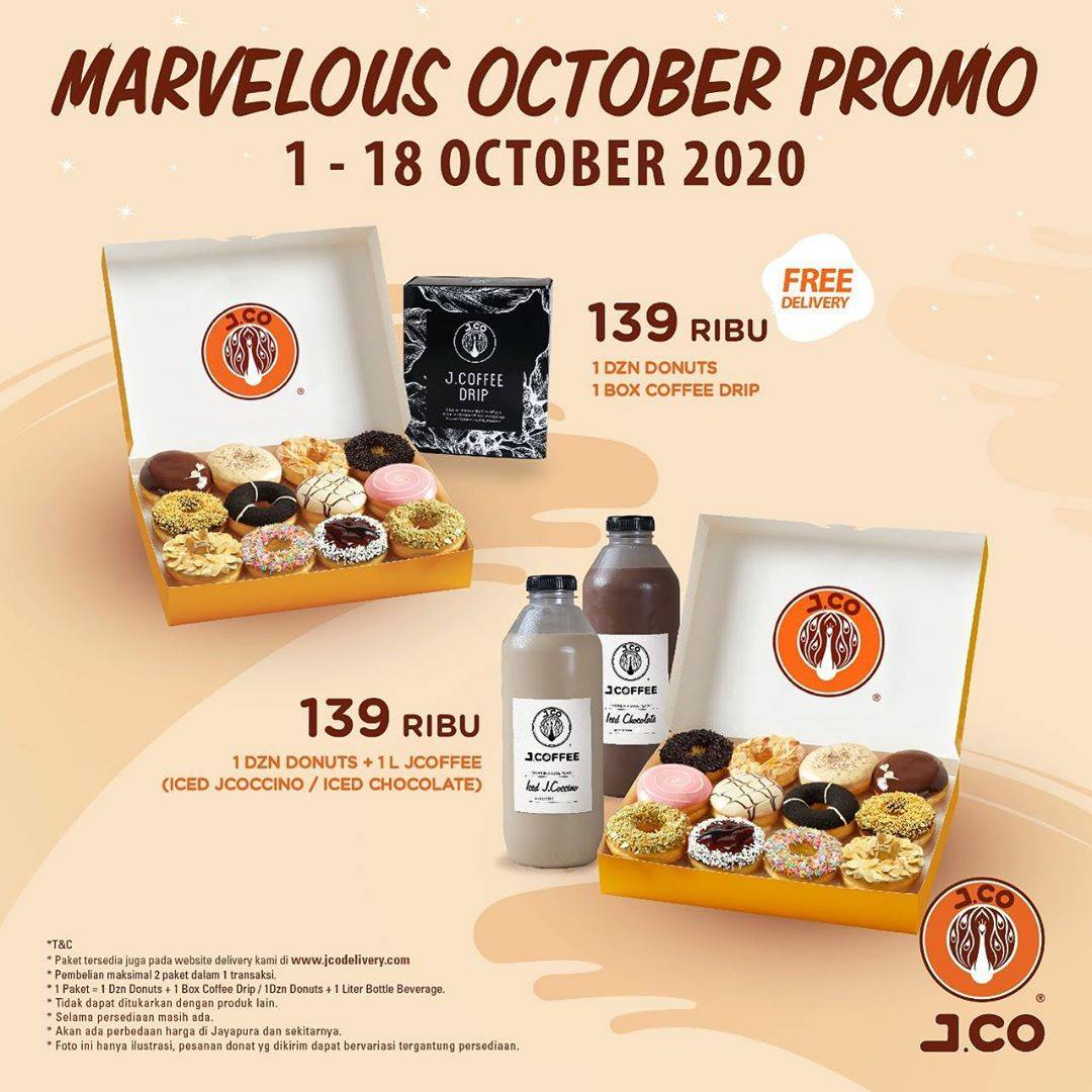 Diskon JCO Marvelous October Promo