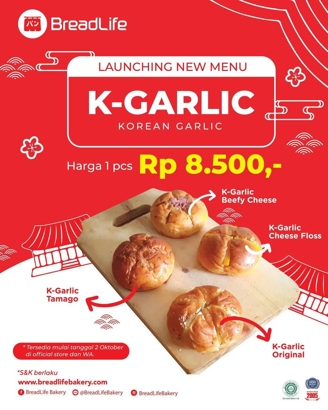 Diskon Breadlife Promo New Menu K- Garlic