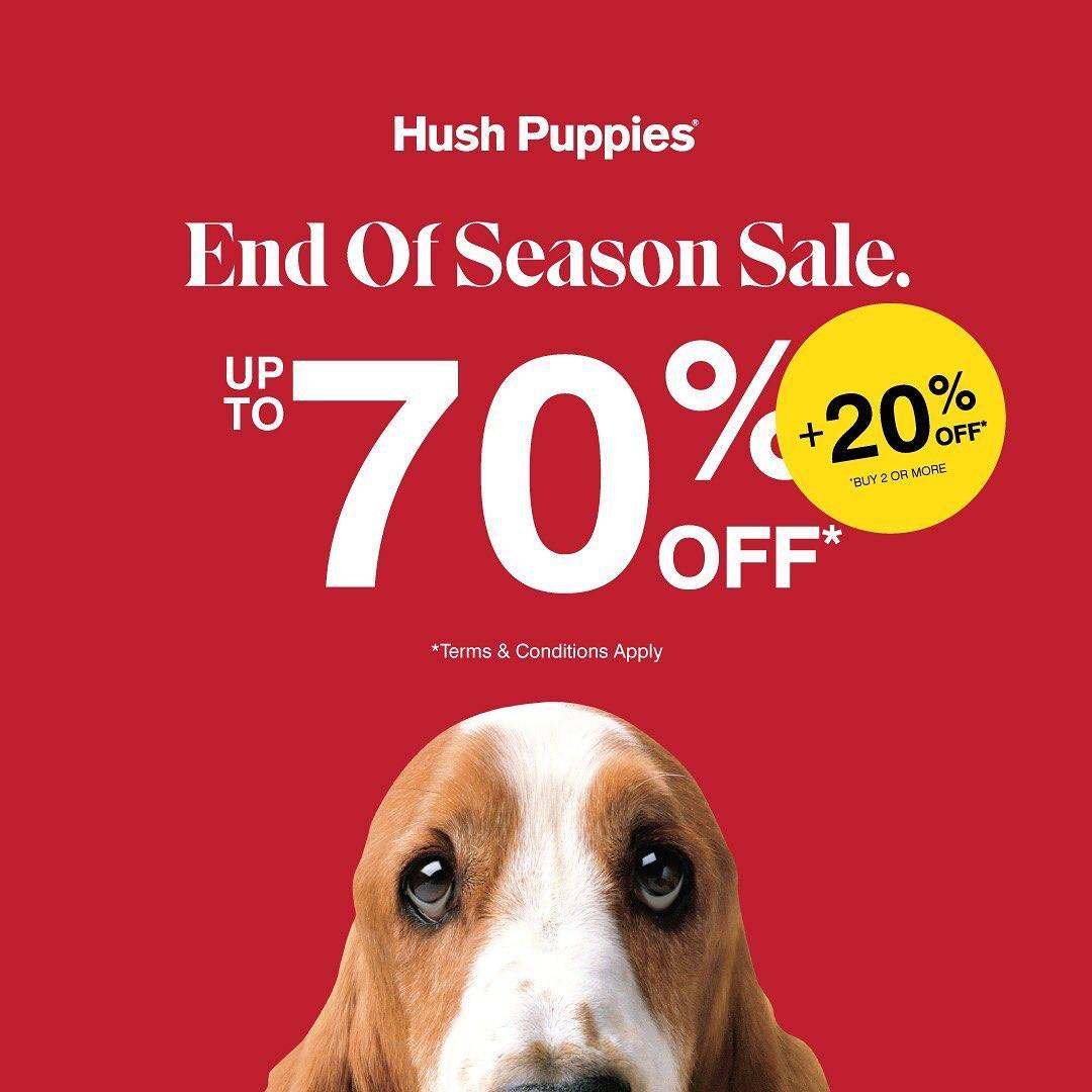 Diskon Hush Puppies End Of Season Sale Up To 70% Off + 20% Off