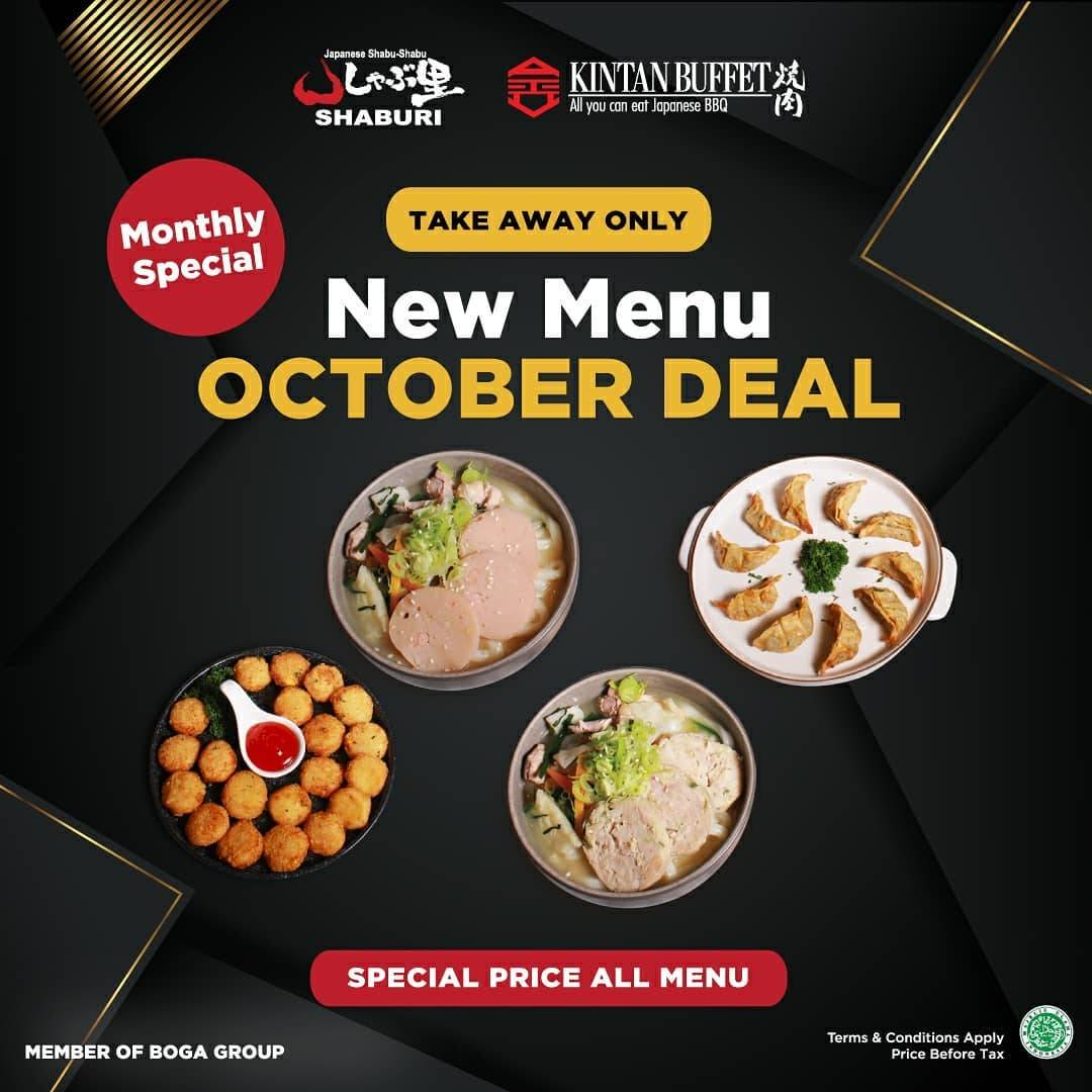 Diskon Shabu-Shaburi x Kintan Buffet New Menu October Deal
