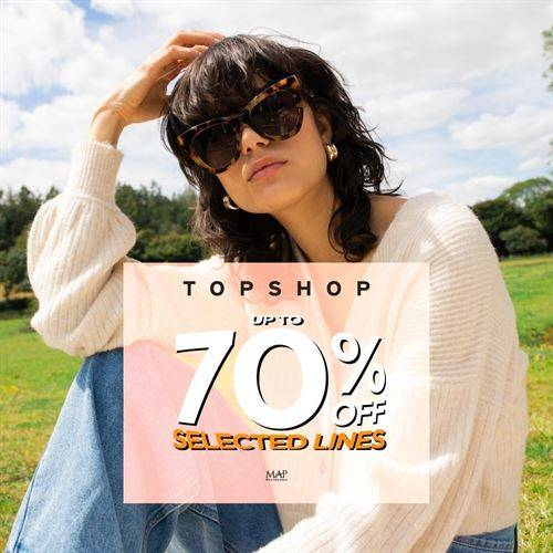 Diskon Topshop Promo Discount Up to 70% Off