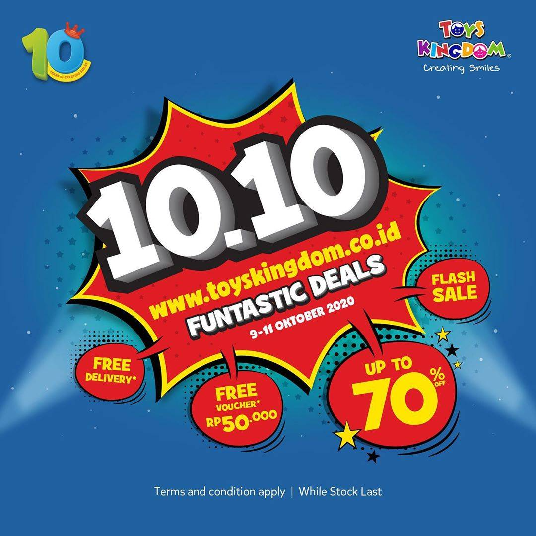 Diskon Toys Kingdom Promo 10.10 Funtastic Sale