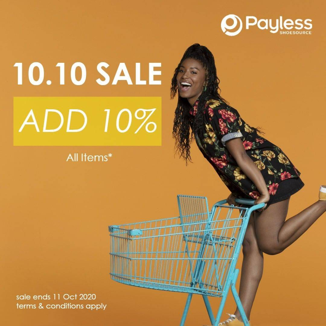 Diskon Payless Promo 10.10 Sale - Additional 10% On All Items