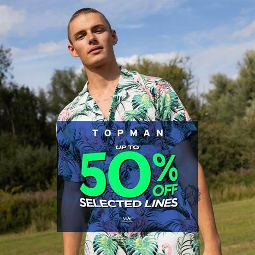 Diskon TOPMAN Promo Discount Up to 50%