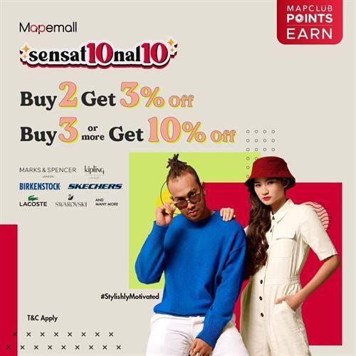 Diskon MapeMall Promo Sensat10nal10 Buy More Save More Dari Berbagai Brand