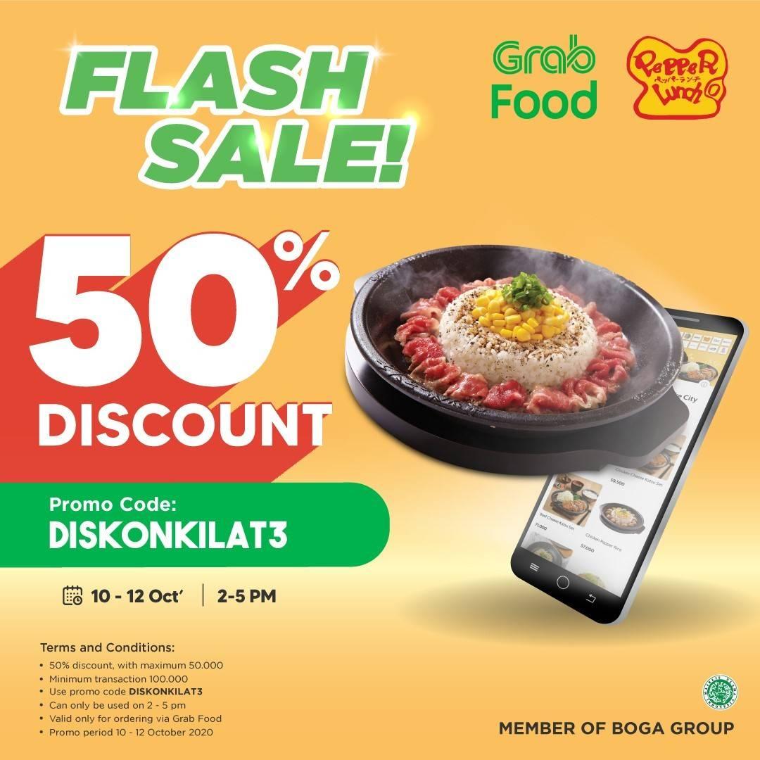 Diskon Pepper Lunch Promo Flash Sale 50% Di Grabfood