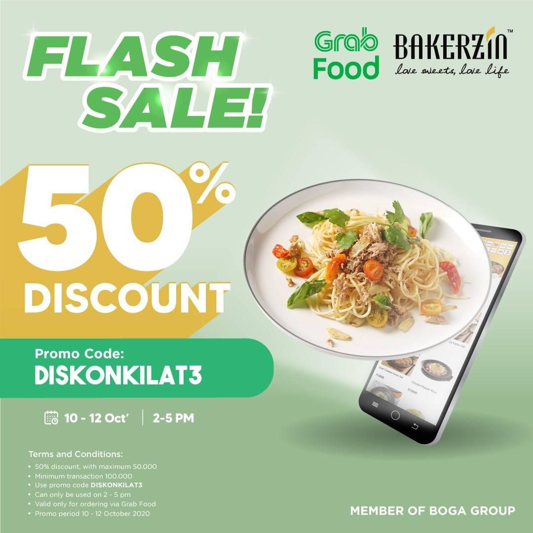 Diskon Bakerzin Promo Flash Sale 50% Di Grabfood