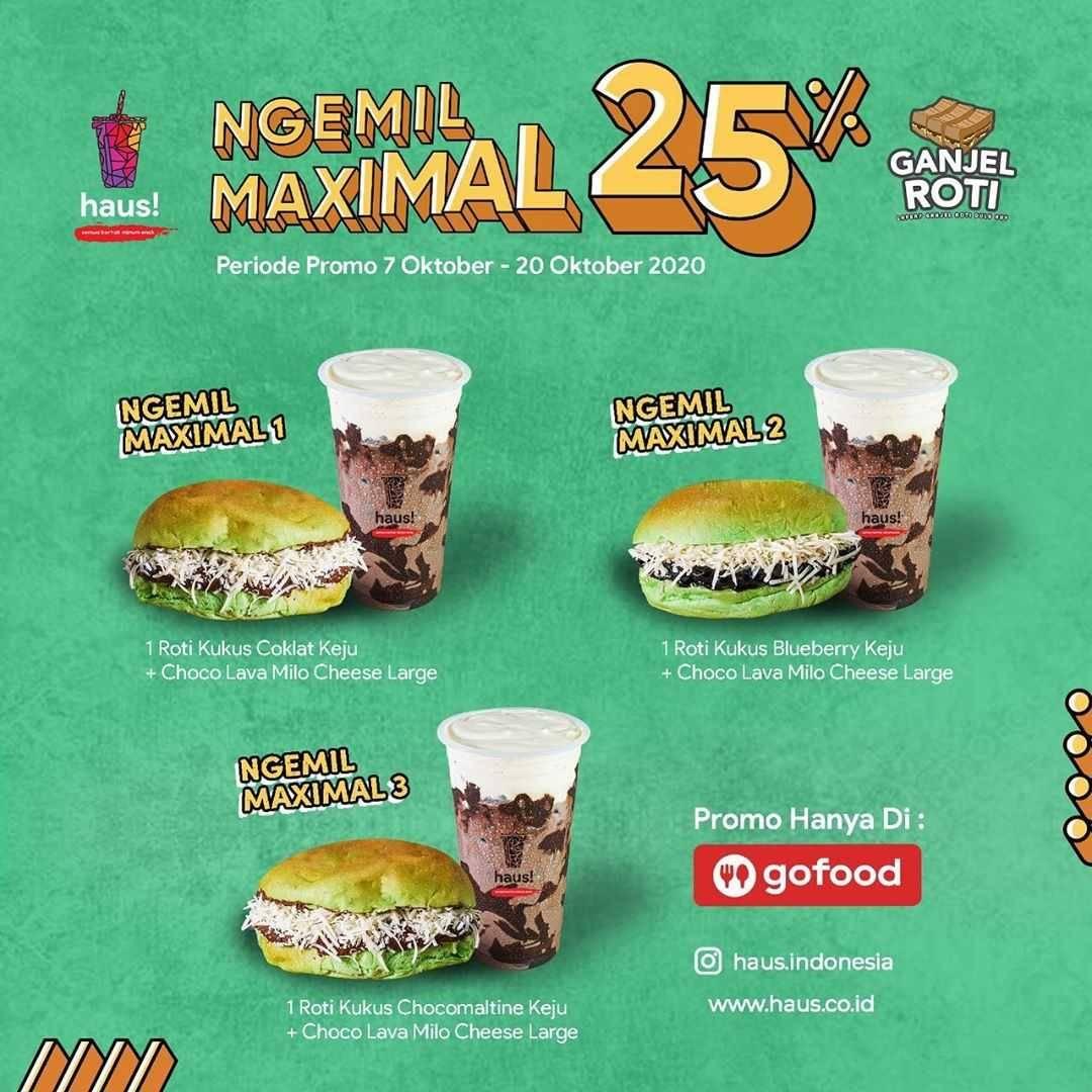Diskon Haus! Indonesia Promo Ngemil Maksimal - Diskon 25% Di GoFood