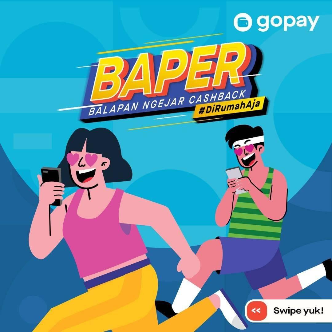 Diskon Gopay Promo Balapan Ngejar Cashback - Cashback & Diskon Hingga 125.000