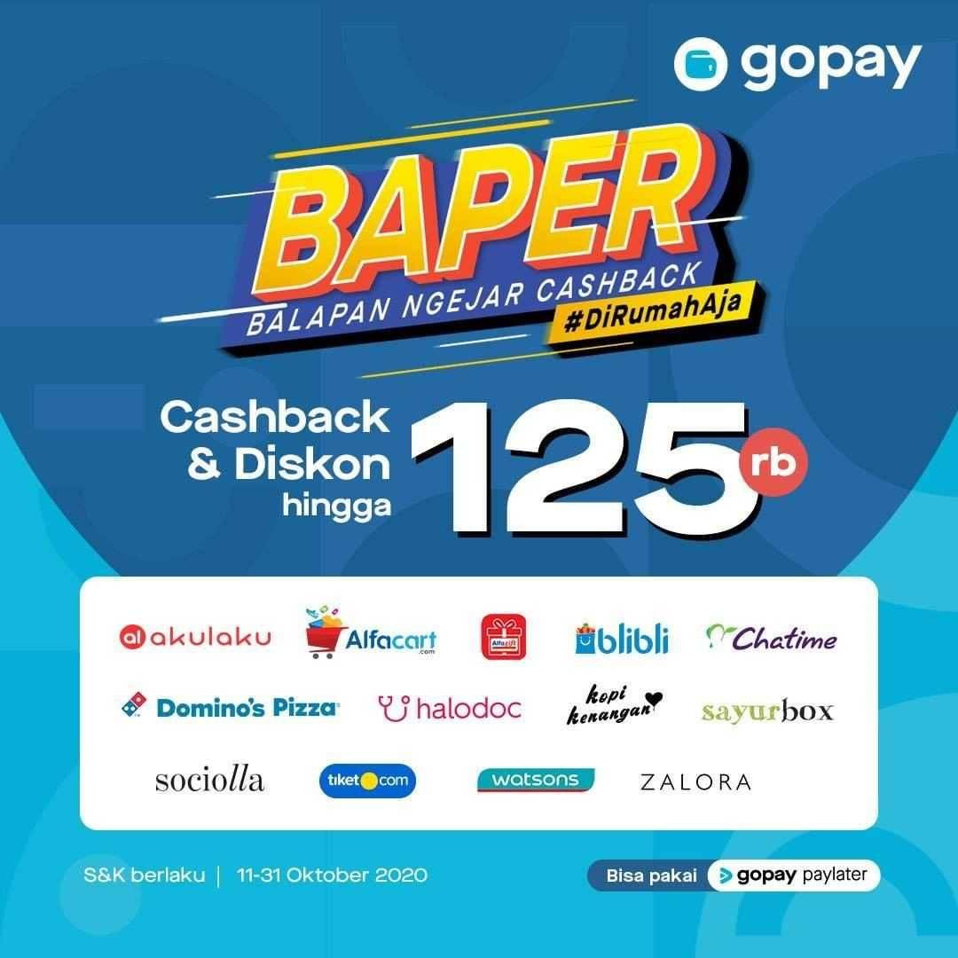 Promo diskon Gopay Promo Balapan Ngejar Cashback - Cashback & Diskon Hingga 125.000